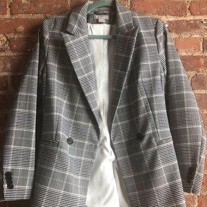 H&M Gray Plaid Fitted Blazer - Sz 4